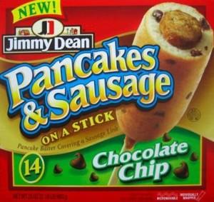La pubblicità di una salsiccia Jimmy Dean