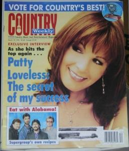 La copertina di COUNTRY WEEKLY del 19 marzo 1996