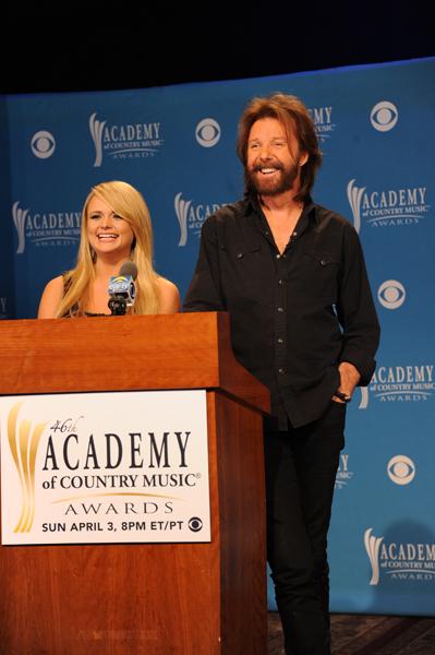 Miranda Lambert e Ronnie Dunn alla conferenza stampa di presentazione delle candidature agli ACM Awards