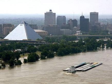 Memphis sotto l'acqua (Foto KeyStone)